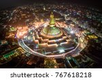 boudhanath stupa. night photo.... | Shutterstock . vector #767618218