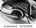 call center support concept.... | Shutterstock . vector #767620858