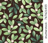 seamless vector decorative... | Shutterstock .eps vector #767621455