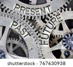 macro photo of tooth wheel... | Shutterstock . vector #767630938