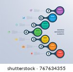 infographics timeline template... | Shutterstock .eps vector #767634355