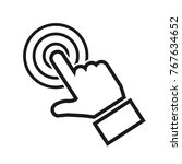 hand making selection icon  ... | Shutterstock .eps vector #767634652