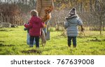 planting trees with children | Shutterstock . vector #767639008