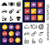 lunch all in one icons black  ... | Shutterstock .eps vector #767639722