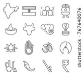 india country   culture icons... | Shutterstock .eps vector #767640076