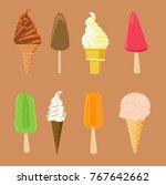 set of ice creams | Shutterstock .eps vector #767642662