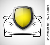 protect car guard shield.... | Shutterstock .eps vector #767642896
