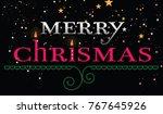 merry chrismas card   Shutterstock .eps vector #767645926
