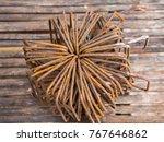 rusty bar  old steel... | Shutterstock . vector #767646862