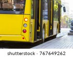 Modern Yellow City Bus With...
