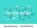 creative infographic banner... | Shutterstock .eps vector #767649412