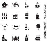 bar icons. black flat design.... | Shutterstock .eps vector #767651962