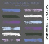watercolor  ink or paint brush... | Shutterstock .eps vector #767653192