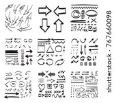 arrows vector collection in... | Shutterstock .eps vector #767660098