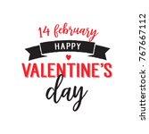 fourteen february valentine day ... | Shutterstock .eps vector #767667112