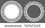 laser cutting template. set of... | Shutterstock .eps vector #767671225