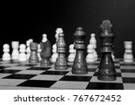 chess photographed on a... | Shutterstock . vector #767672452