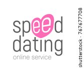 speed dating. online service... | Shutterstock .eps vector #767677708