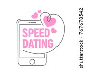 phone with hearts and an... | Shutterstock .eps vector #767678542