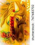Portrait  A Carousel Pony With...