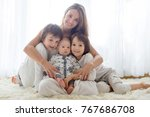 family portrait of mother and... | Shutterstock . vector #767686708