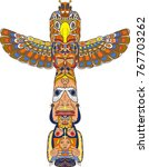 totem being object symbol... | Shutterstock .eps vector #767703262