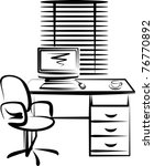 illustration with office work... | Shutterstock .eps vector #76770892