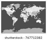 world map in four shades of... | Shutterstock .eps vector #767712382