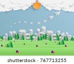 summer background design... | Shutterstock .eps vector #767713255