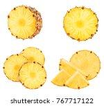 pineapple fruit isolated on...   Shutterstock . vector #767717122