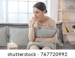 woman sitting upset psychology... | Shutterstock . vector #767720992