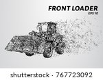 front loader from the particles.... | Shutterstock .eps vector #767723092