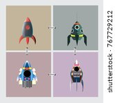 rocket 4 collection for...   Shutterstock .eps vector #767729212
