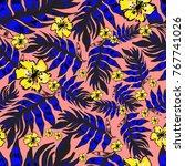 seamless vector pattern design. ... | Shutterstock .eps vector #767741026