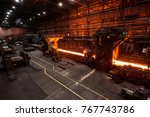 the production process in the... | Shutterstock . vector #767743786
