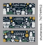 retro styled vector coffee... | Shutterstock .eps vector #767749912
