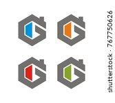 g logo initial letter design... | Shutterstock .eps vector #767750626