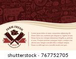 vector butchery illustration... | Shutterstock .eps vector #767752705