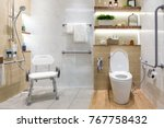 interior of bathroom for the... | Shutterstock . vector #767758432
