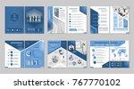 brochure creative design.... | Shutterstock .eps vector #767770102