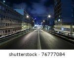 dark street in tel aviv  israel | Shutterstock . vector #76777084