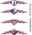 usa patriotic banner set....