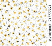cute floral pattern of small... | Shutterstock .eps vector #767777326