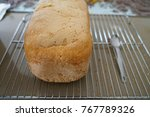 Homemade Bread On Grid With...