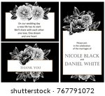 romantic invitation. wedding ... | Shutterstock .eps vector #767791072