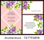 invitation with floral... | Shutterstock .eps vector #767793898