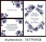 invitation with floral... | Shutterstock .eps vector #767793928