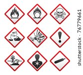 new safety symbols.  bitmap... | Shutterstock . vector #76779661