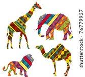 Stock vector african animals 76779937