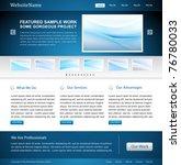 business website design template   Shutterstock .eps vector #76780033